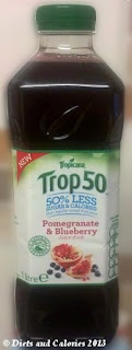 Tropicana Trop50 Fruit Juice Pomegranate & Blueberry