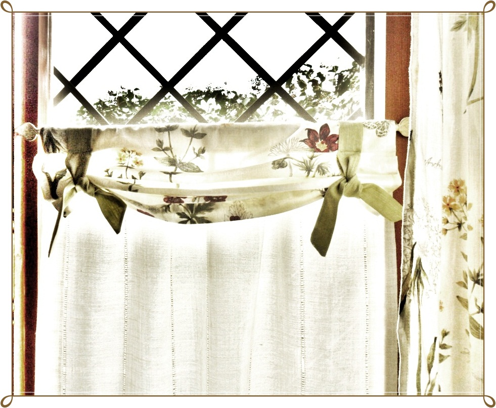 Lecosemeravigliose shabby e country chic passions tende for Tende country cucina
