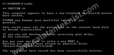 fix master boot record windows xp