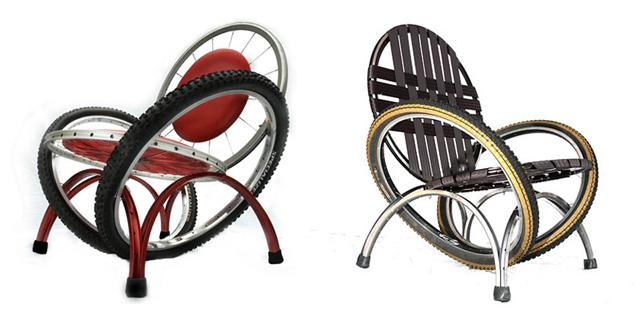 Upcycling: móveis de peças de bicicletas
