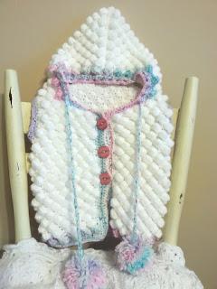 Bąbelkowa kamizelka dla dziewczynki z kapturem