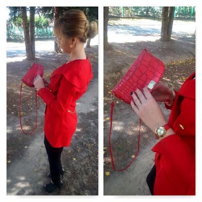 Jak przerobić stary żakiet, czerwony żakiet