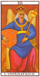 Fertilidad, matrimonio y un simbolismo femenino se concentran en este arcano.