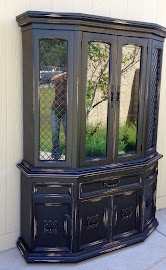 Black Distressed Hutch ($350)