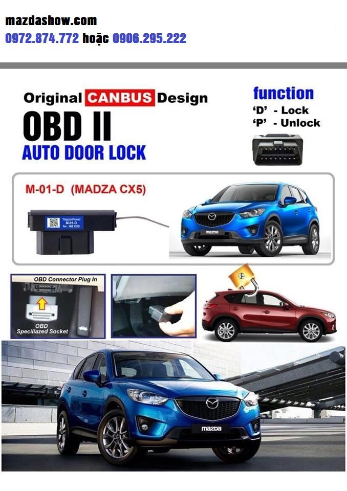 Bộ khóa cửa tự động mazda cx-5| Cài khóa cửa tự động cx-5| Khóa cửa theo tốc độ Mazda CX-5| Lắp bộ khóa mở cửa tự động mazda