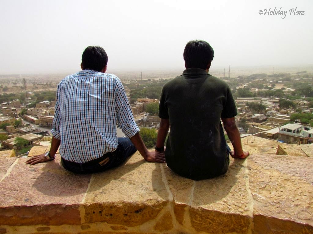 Manas & Divyam enjoying the view from fort
