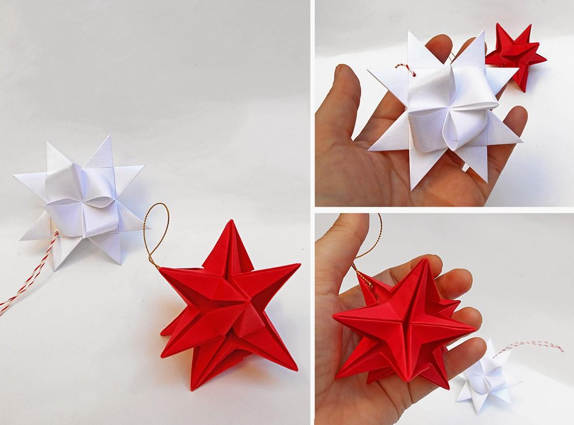 Mas origami adornos navide os - Adornos de navidad con cartulina ...