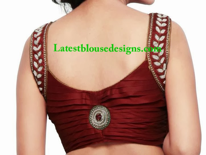 sleeveless saree blouse
