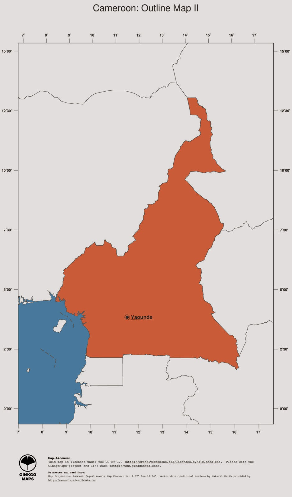 free maps download Cameroon map