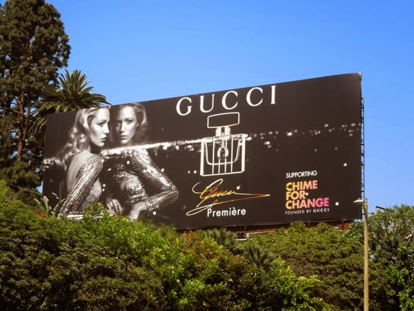 Blake Lively Gucci Premiere fragrance Chime For Change billboard 2014