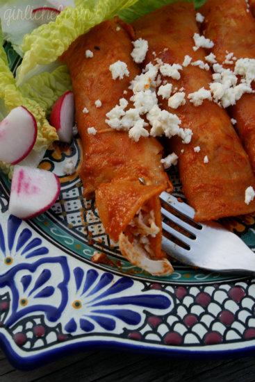 Enchiladas de Chile y Ajo