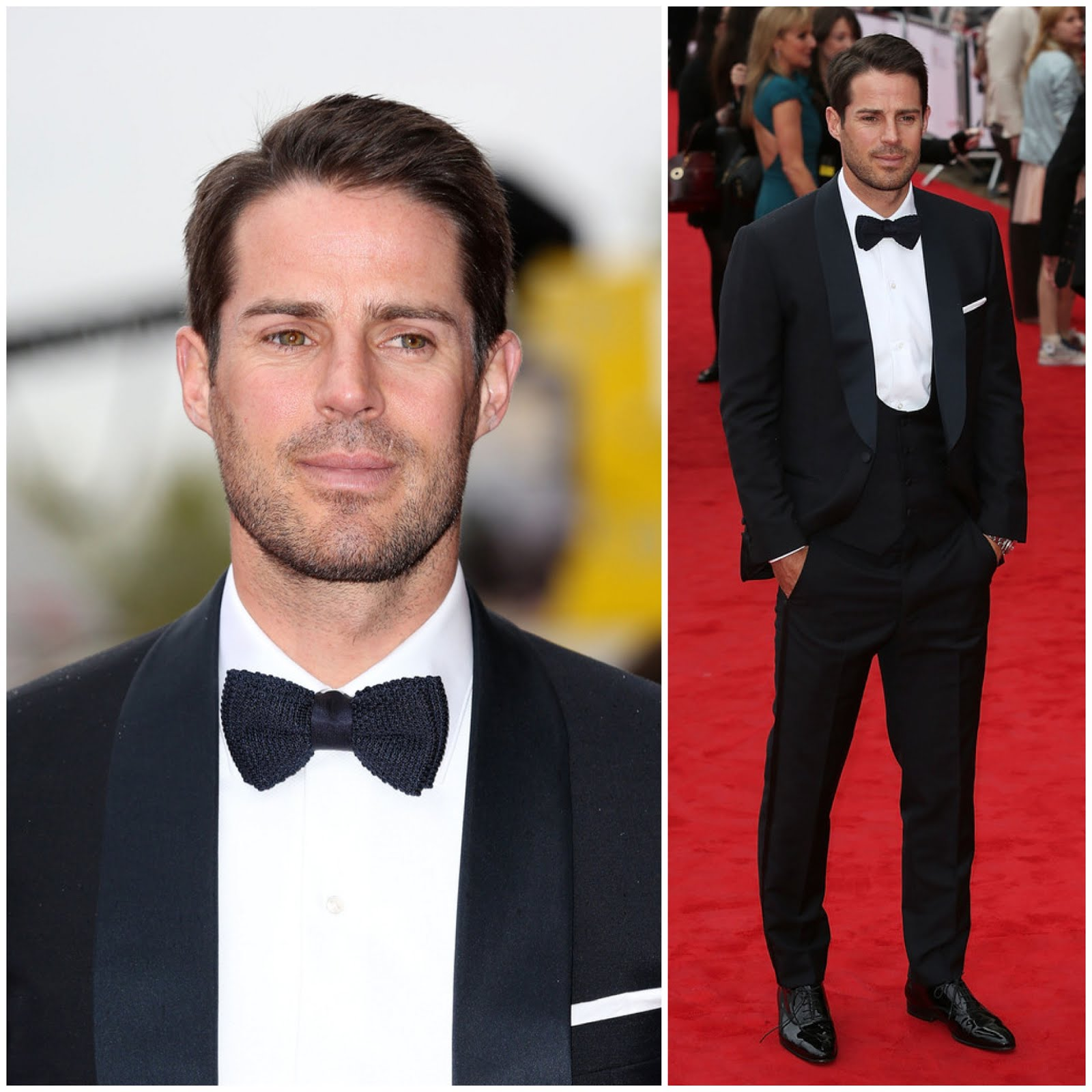 00O00 Menswear Blog: Jamie Redknapp in Thom Sweeney bespoke 3 piece suit - 2013 BAFTA Awards London