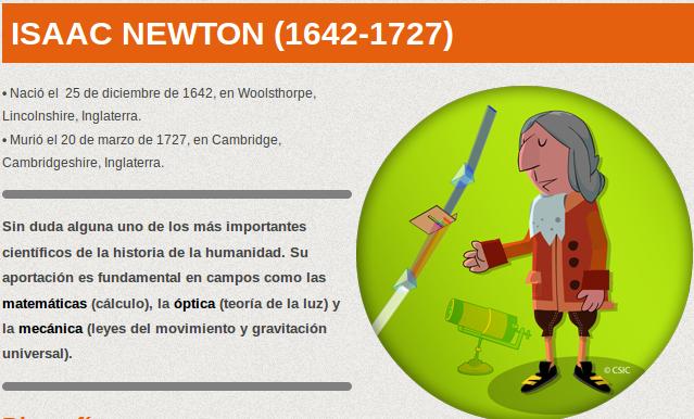 http://www.kids.csic.es/cientificos/newton.html