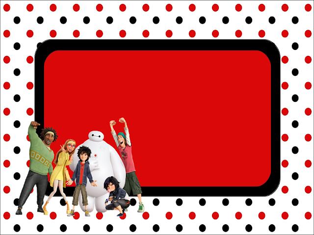 Para hacer invitaciones, tarjetas, marcos de fotos o etiquetas de Big Hero 6 para imprimir gratis.