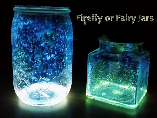 fairy jars, glow in the dark activities for kids
