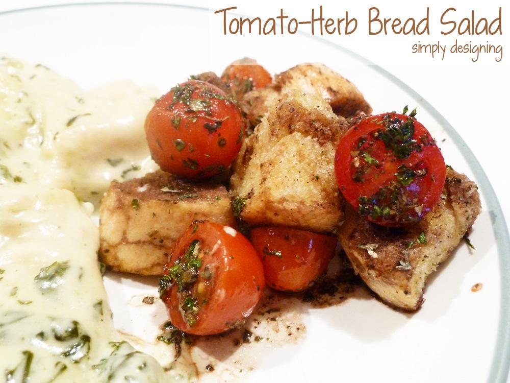 Tomato-Herb Bread Salad | #recipe #emealstotherescue #pmedia #ad