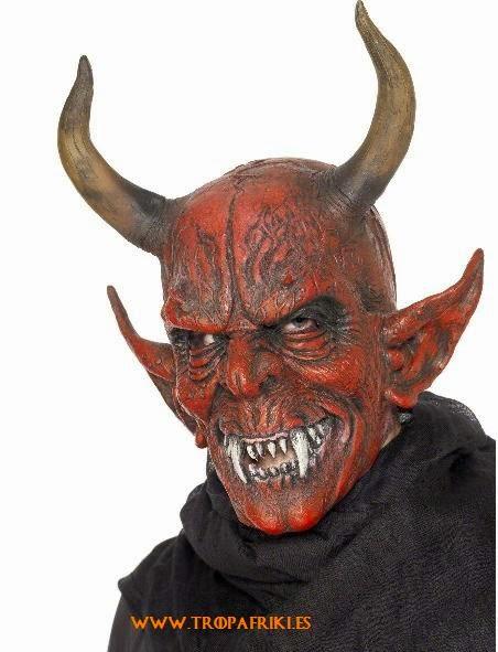 Careta halloween Demonio con cuernos 17,28€