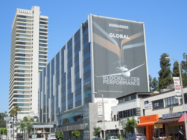 Bombardier Global VIP jets billboard