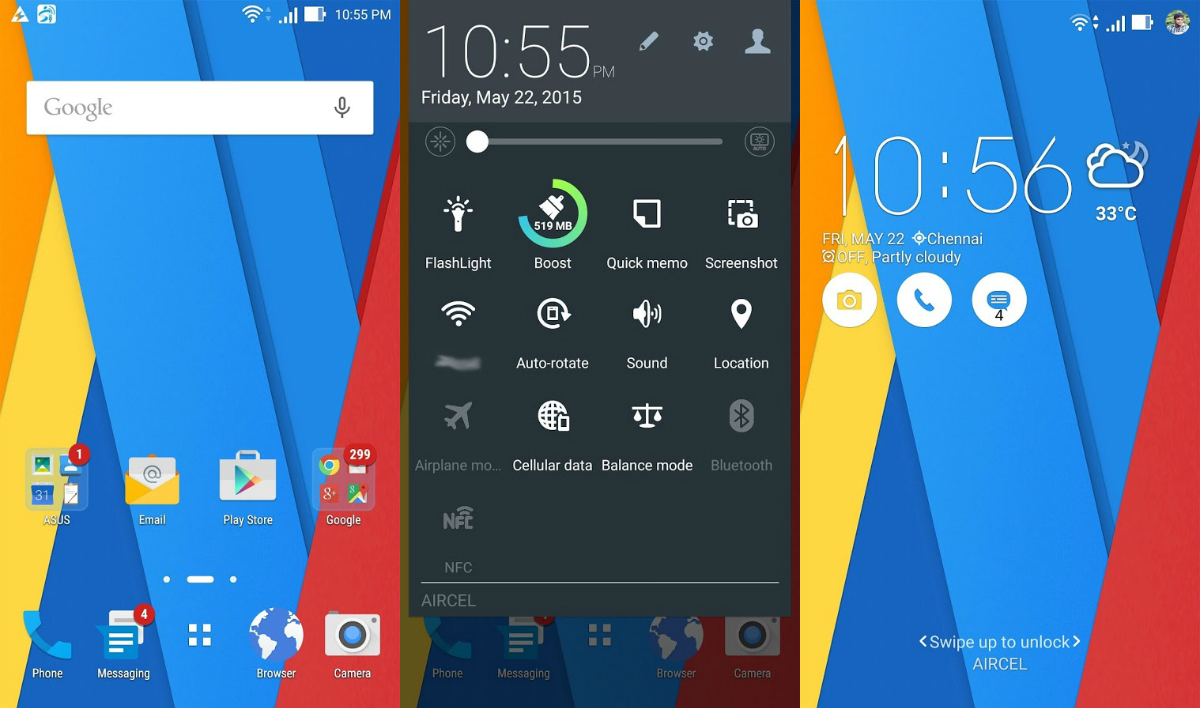 Download ZenMaterial ASUS Theme Apk Zenfone 2 Stock Android Lollipop Material Design