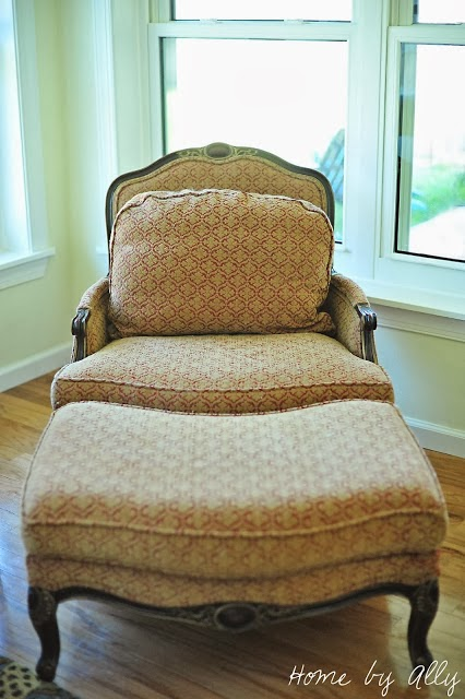 when i purchased this chair it is obviously that it is a french style with matching ottoman the things i loved most about this chair was number one