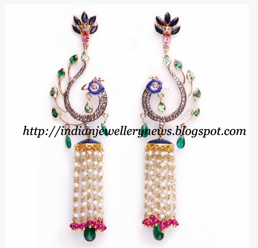 Peacock Style Earring By Amrapali