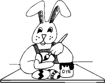 Bunny Coloring Pages, Easter Coloring Pages,
