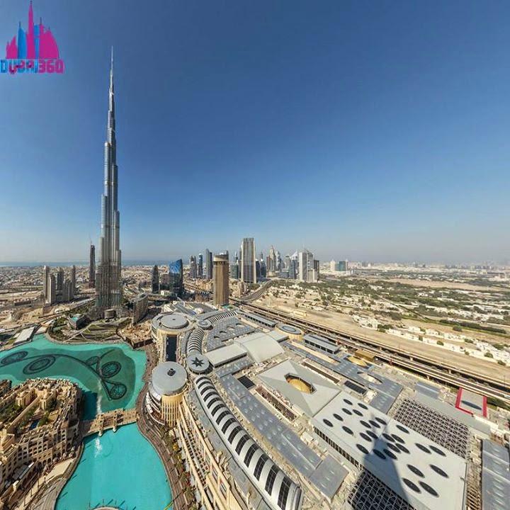Dubai 360, Dubai virtual, vituális utazás, panorámafotó, Burdzs Kalifa, Dubaj