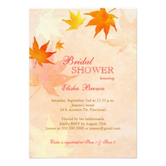 Autumn Bridal Shower Invitations1