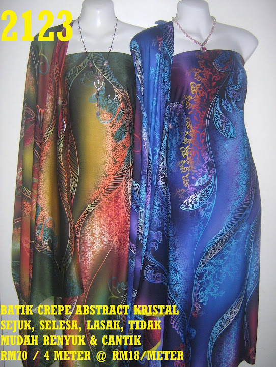 2123: BATIK CREPE ABSTRACT KRISTAL,  4 METER