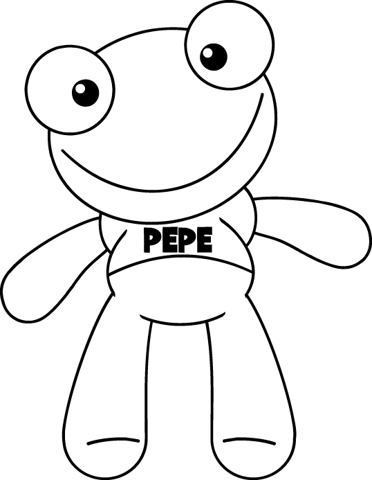 LAMINAS PARA COLOREAR - COLORING PAGES: El Sapo Pepe para dibujar ...