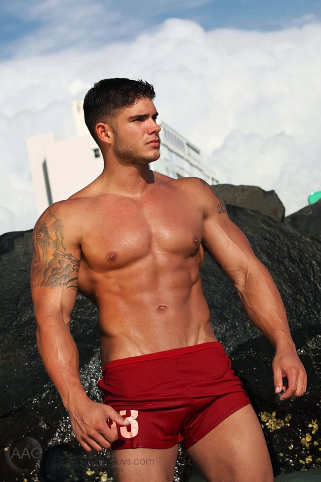 Picture About AAG Fitness Model Colin Wayne with Military Background