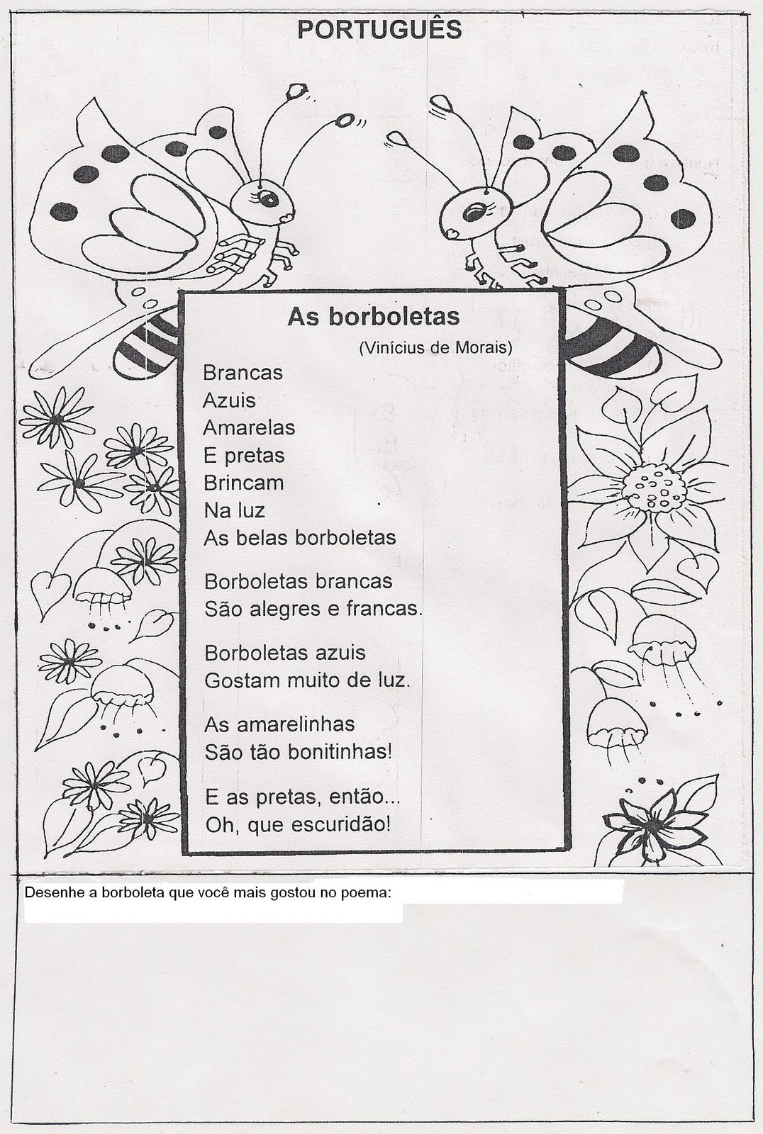 Poema As Borboletas