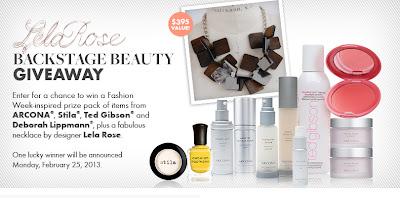Lela Rose Backstage Beauty Giveaway ycfonline 2013