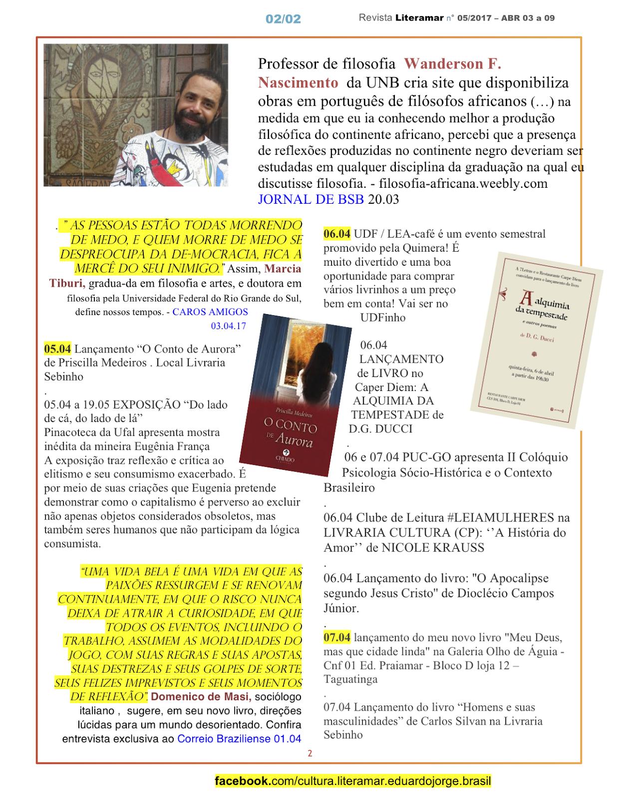 Revista Literamar 2/4, um encontro cultural em DF, GO e AL