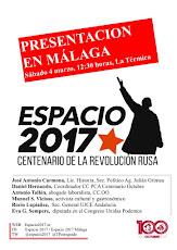 Presentación en Málaga de ESPACIO 1917. Centenario de la Revolución Rusa
