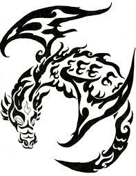 Motif Tato Naga Hitam Putih 6