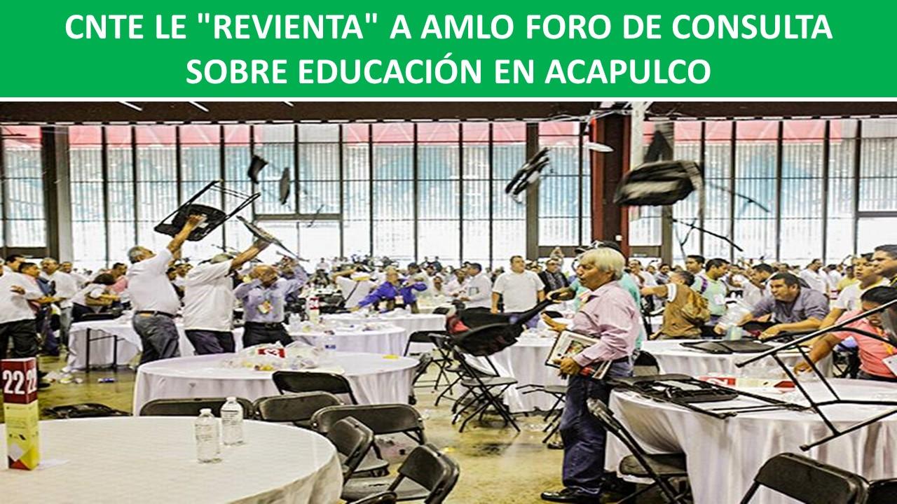 FORO DE CONSULTA SOBRE EDUCACIÓN EN ACAPULCO