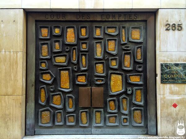 Paris - 1er - Porte Sculpture - Cour des Comptes, Rue Saint Honoré  Sculpteur:   Création: