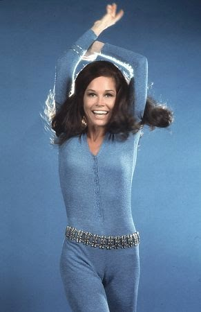 "Mary at the on-set of ""The Mary Tyler Moore Show"""