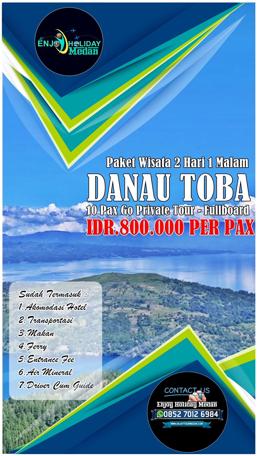 Paket Wisata Danau Toba Terlengkap Harga Murah