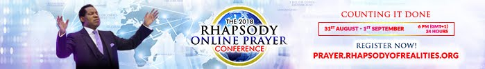 ONLINE PRAYER CONFERENCE WITH PASTOR CHRIS OYAKHILOME - CLICK HERE TO REGISTER