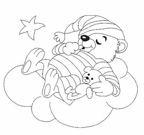 Desenhos de Ursinhos para colorir - Regando - Desenhos para colorir