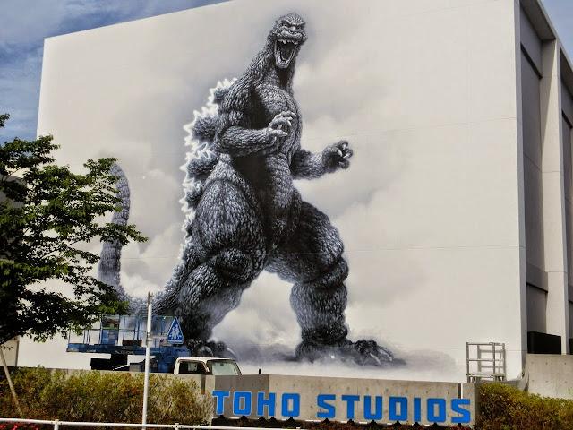 mural de Godzilla en Toho Studios