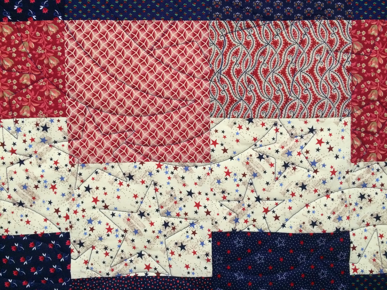 Debbie Seitz's Red, White and Blue Quilt