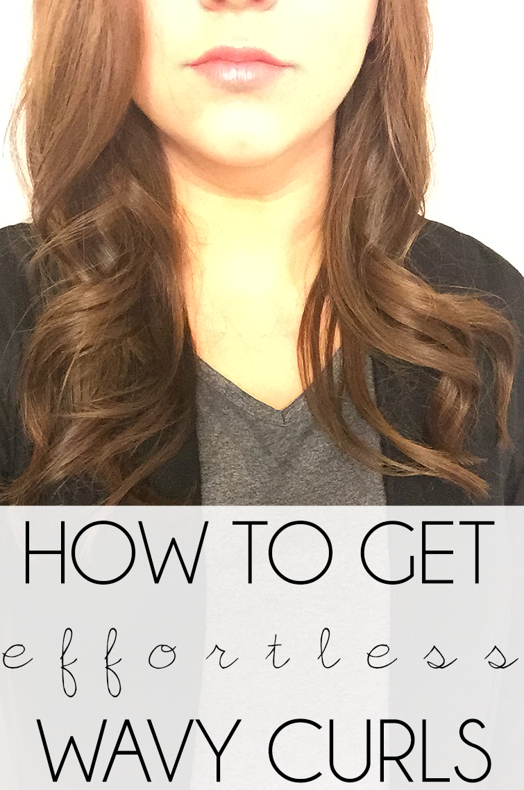 how to get effortless wavy curls