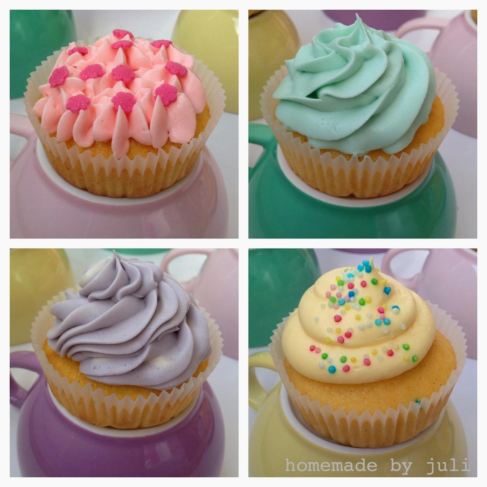 HOMEMADE by Juli: Vanilla Bean Pastell Cupcakes