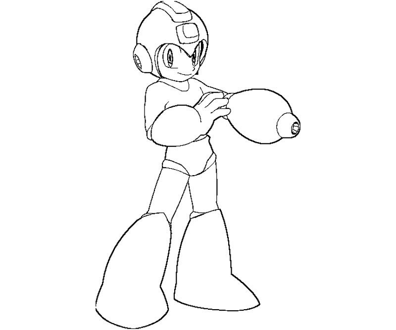 mega man coloring pages free - photo#5