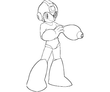 #5 Mega Man Coloring Page