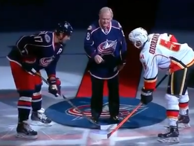 Jack Nicklaus drops first puck at Blue Jackets game