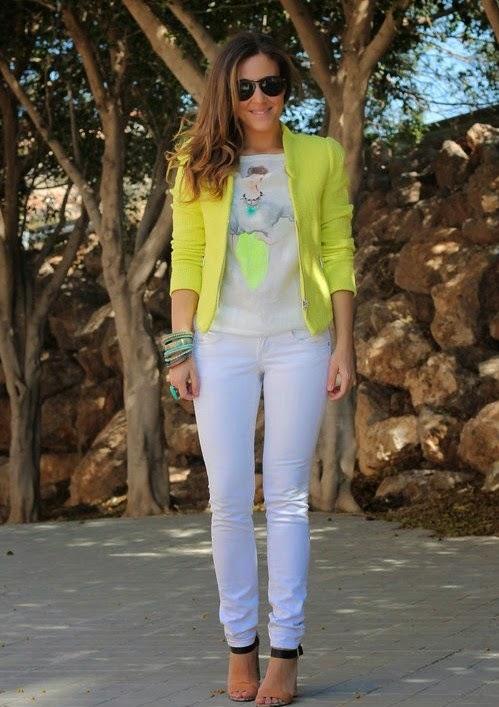 2014 Beyaz Pantolon Kombinleri Modelleri